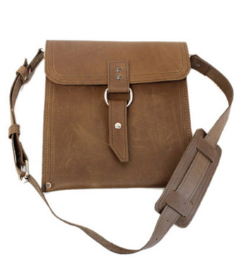 The Richmond - Classic Brown - Slim Line Traveler iPad (Tablet) Bag Made in the U.S.A.