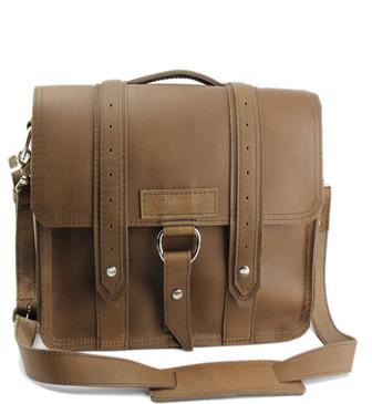 "10"" Small Brooklyn Safari iPad (Tablet) Bag in Brown Oil Tanned Leather"