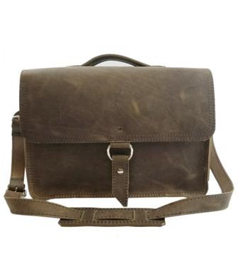 "14"" Medium Newtown Midtown Laptop Bag in Distressed Tan Oil Tanned Leather"