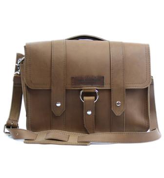 """15"""" Large Belmar Journeyman Briefcase in Brown Leather"""