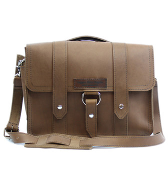 "15"" Large Belmar Journeyman Briefcase in Brown Leather"