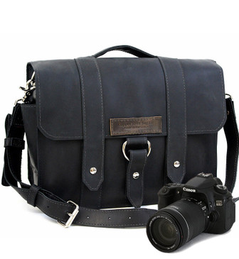 "Large 15"" Black Journeyman Sonoma Camera Bag Made in the U.S.A. - 15-J-BL-EXL-SMCAM"