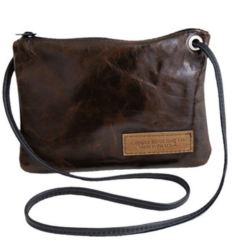 Italian Leather Clutch Purse - Molasses - Made in the U.S.A.