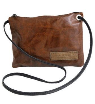 Italian Leather Clutch Purse - Caramel - Made in the U.S.A.