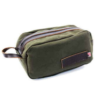 Toiletry Dopp Kit - Water-resistant, roomy Rugged Cotton Duck Made in the U.S.A. - DOPK-FG