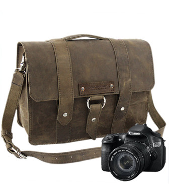 "Large 15"" Journeyman Sonoma Camera Bag Made in the U.S.A. - Distressed - 15-J-DIS-LCAM"