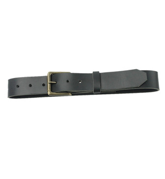The Staton Belt - Full Grain Leather Belt - Black Made in the U.S.A. - BLK-ROLBUC-BLT-ANT