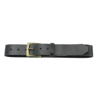 The Staton Belt - Full Grain Leather Belt - Black Made in the U.S.A. - BLK-PLN-BLT-ANT