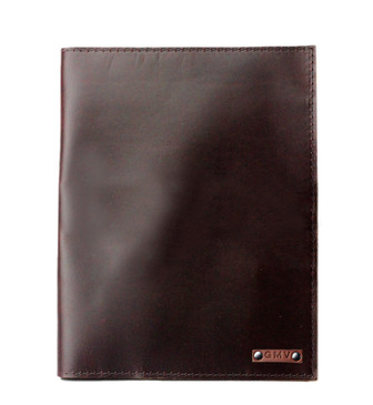 Large Classic Padfolio in Chocolate Brown Latigo Leather Made in the U.S.A. - LG-CLSC-CHOBR-PDFOL