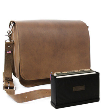 "Medium 15"" Rockport Mission Briefcase Made in the U.S.A. - Brown - 15-MIS-BR-FIL"