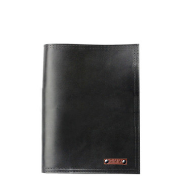 5 x 8 Notepad in Black Excel Leather Made in the U.S.A. - 5X8-CLSC-EXCL-BLk-PDFOL