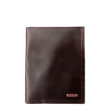 5 x 8 Notepad in Coffee Brown Excel Leather Made in the U.S.A. - 5X8-COF-EXL-PDFOL