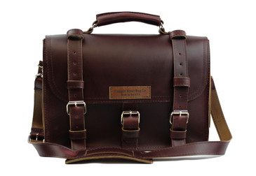 15 inch Lincoln Classic Leather Briefcase Coffee Brown - Made in the U.S.A. - 15-LIN-CLS-BRF-COF-EXL