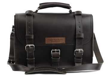 17 inch Lincoln Classic Leather Briefcase Black Excel - Made in the U.S.A. - 17-LIN-CLS-BRF-BL-EXL