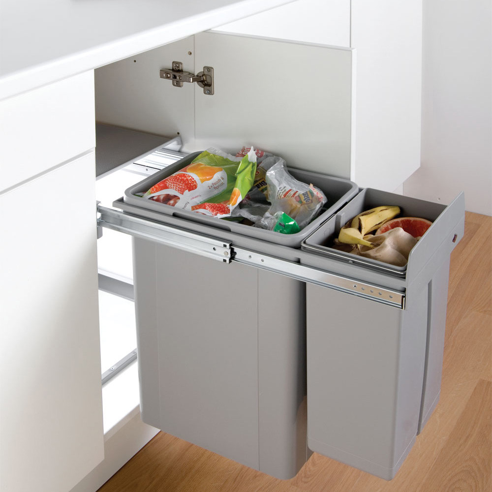 double recycling bin for kitchen cupboards. Black Bedroom Furniture Sets. Home Design Ideas