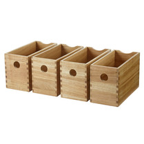 Oak Finger Joint Boxes - Set of 4