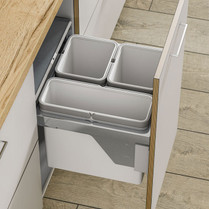56L Trio Pull-Out Side Mounted Waste Bin