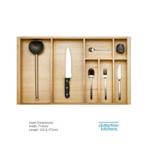 800mm Wood Cutlery Tray