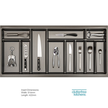 1000mm Luxury Cutlery Inserts Clutterfree Kitchens