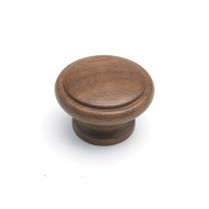 Laithe Ridged - Dark Walnut Wooden Knob