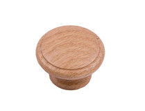 Laithe Ridged - Light Oak Wooden Knob