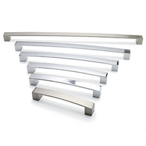 Block Bar 'D' - Brushed Nickel Handle