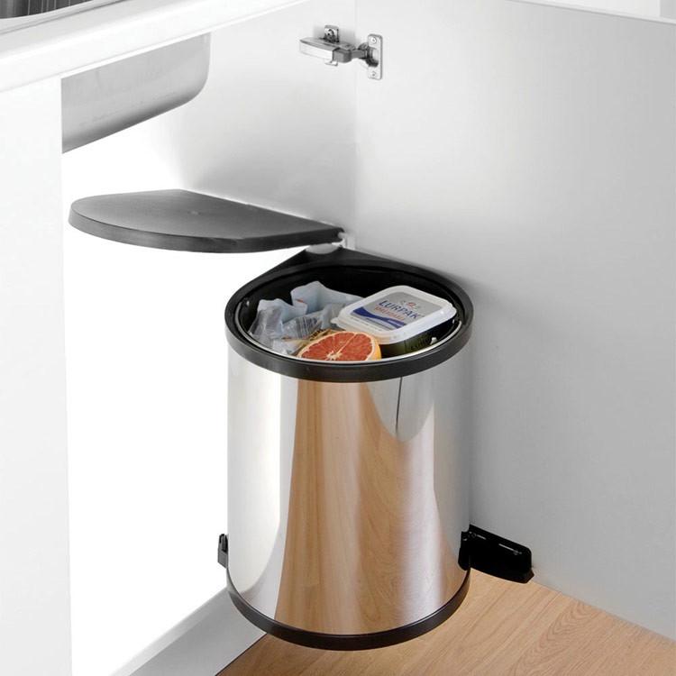 Round Kitchen Cupboard Bin