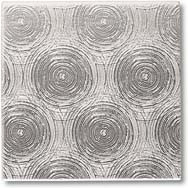 """Crossville Tile Stainless Series 4""""X4"""" Circles Stainless Steel"""