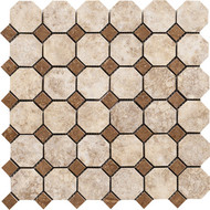 "Marazzi Campione 2"" x 2"" Octogon Mosaic Armstrong"