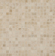 """Bedrosians Marble Tile Cappuccino Mosaic Honed 2"""" x 2"""""""
