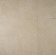 """Bedrosians Marble Tile Crema Marfil Select Honed 18"""" x 18"""""""