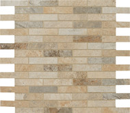 "Cerdomus Tile Rok Mixed Colors 1"" x 3"" Mosaic"
