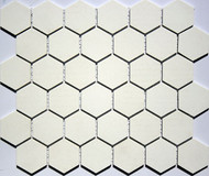 "American Florim Ethos Grey 2"" x 2"" Hexagon Mosaic Glazed"