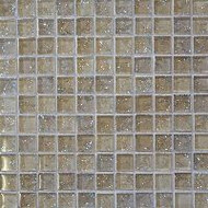 "Bedrosians Tilecrest Ice Crackle Cream Mosaic 1"" x 1"""