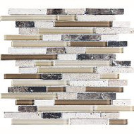 Bedrosians Eclipse Blended Espresso Mosaic Linear