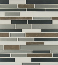 Bedrosians Manhattan Glass/Stone Blends Long Island Random Interlocking