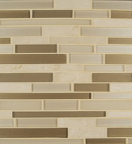 Bedrosians Manhattan Glass/Stone Blends Morningside Random Interlocking