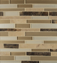 Bedrosians Manhattan Glass/Stone Blends Midtown Random Interlocking