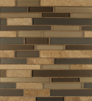 Bedrosians Manhattan Glass/Stone Blends Chelsea Random Interlocking
