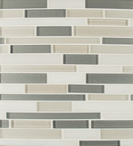 Bedrosians Manhattan Glass/Stone Blends Tribeca Random Interlocking