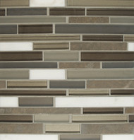 Bedrosians Manhattan Glass/Stone Blends Gramercy Random Interlocking