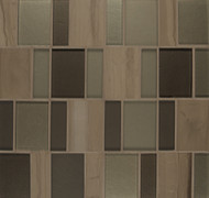 Bedrosians Manhattan Glass/Stone Blends Flatiron Brick Pattern
