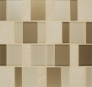 Bedrosians Manhattan Glass/Stone Blends Morningside Brick Pattern