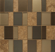 Bedrosians Manhattan Glass/Stone Blends Chelsea Brick Pattern