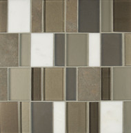 Bedrosians Manhattan Glass/Stone Blends Gramercy Brick Pattern