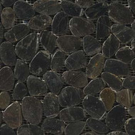 "Emser Tile Rivera Pebbles Flat Pebble Black 12"" x 12"""