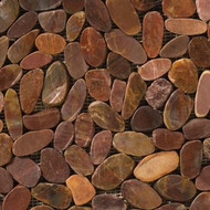 "Emser Tile Rivera Pebbles Flat Pebble Terracotta 12"" x 12"""