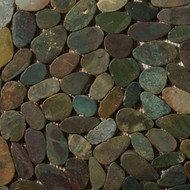 "Emser Tile Rivera Pebbles Flat Pebble Green 12"" x 12"""