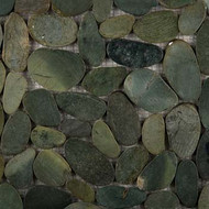 "Emser Tile Rivera Pebbles Flat Pebble Olive 12"" x 12"""