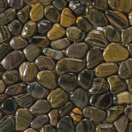 "Emser Tile Rivera Pebbles Pebble Forest 12"" x 12"" Round Mosaic"